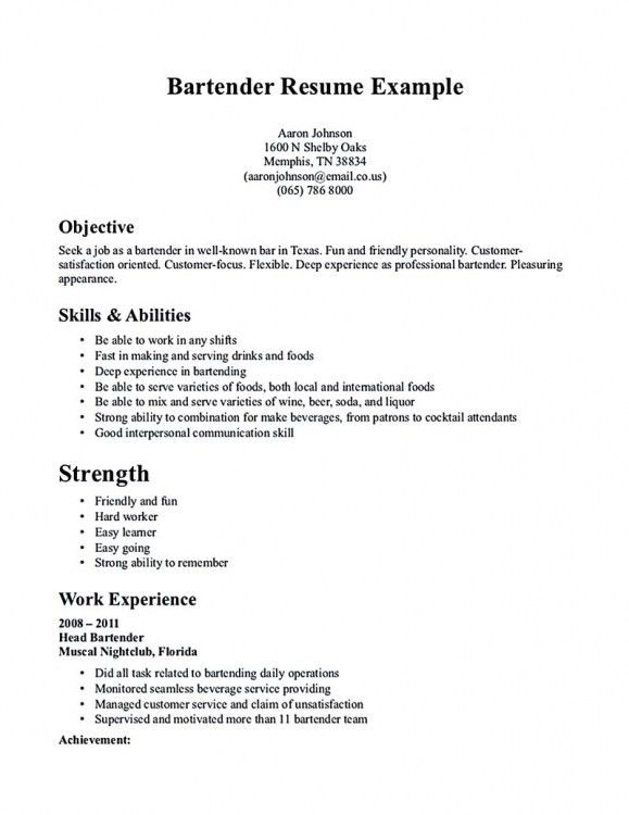 resume for a serverserver resume example server resume examples ...