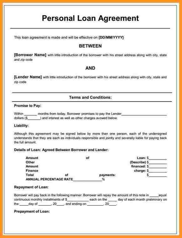 7+ loan contract template | buisness letter forms