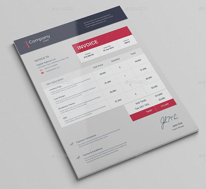 Download Invoice Design Inspiration | rabitah.net