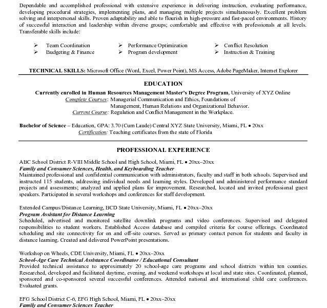 Standard Resume Objective [Template.billybullock.us ]