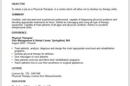 Massage Therapist Resume Entry Level - Reentrycorps