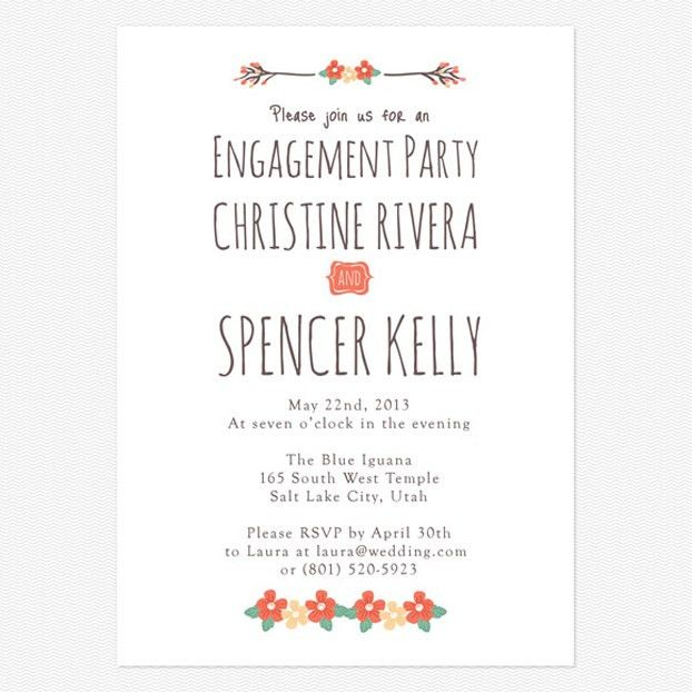 Engagement Party Invitations Wording - vertabox.Com