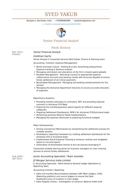 sr financial analyst resumes - Alannoscrapleftbehind