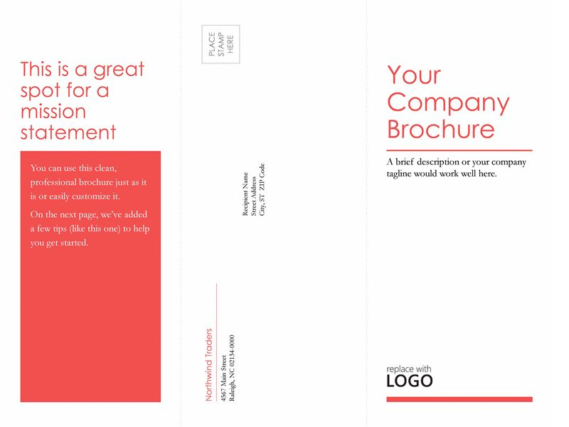 Tri-fold business, medical brochure (red, white design) - Office ...