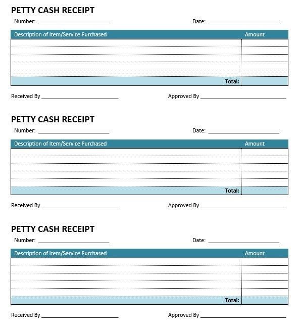 8 Free Sample Petty Cash Receipt Templates – Printable Samples