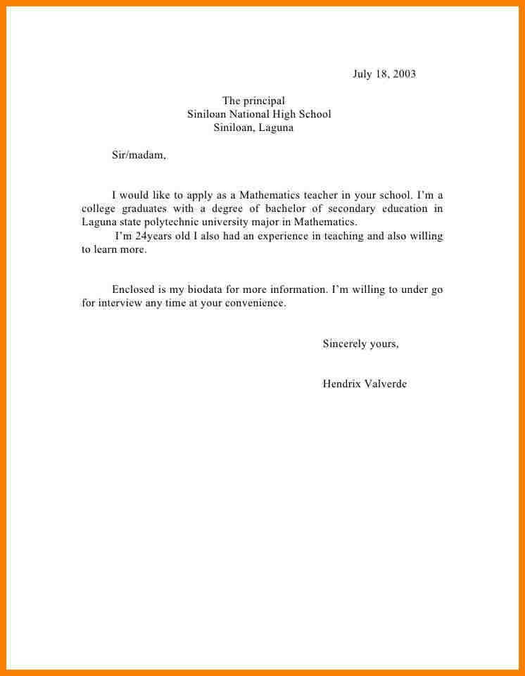 Great Formal Sick Leave Letter. Formal Letter Format For School Leave .