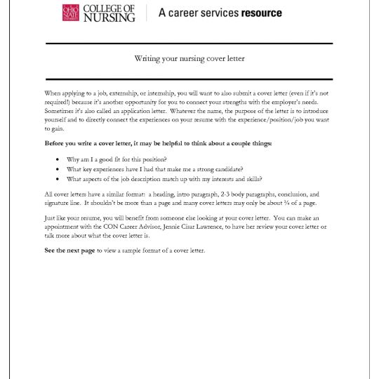 Cover Letter | Experience Resumes