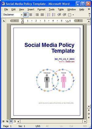 Social Media Policy Templates - Facebook, Twitter, LinkedIn & Blogs