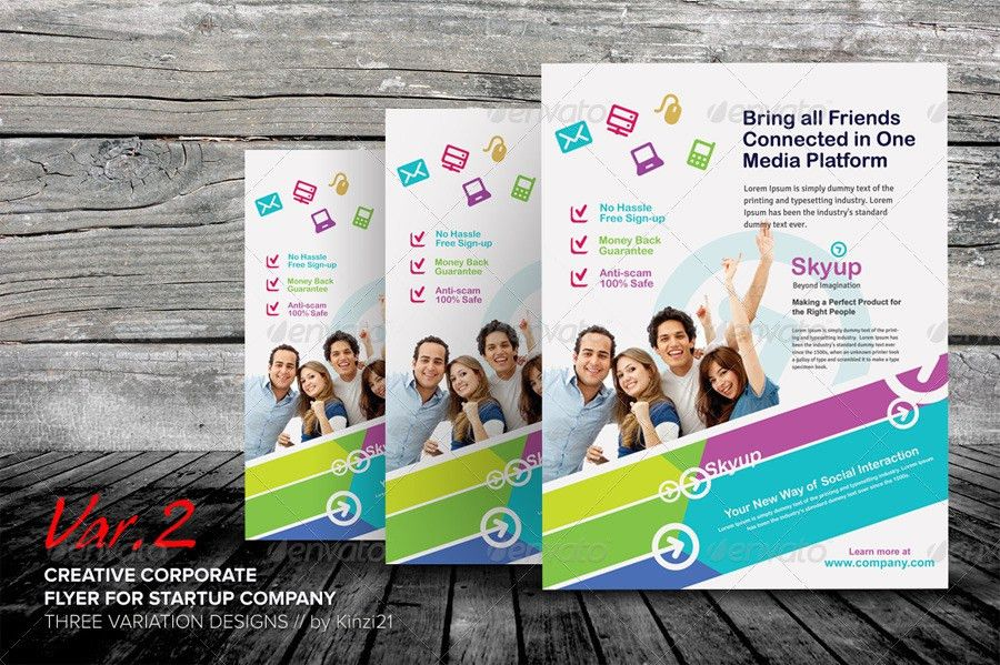 Creative Corporate Flyer by kinzi21 | GraphicRiver