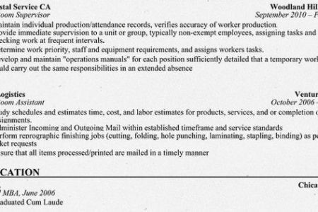 Mail room resume occupationalexamplessamples free edit with word - mail room supervisor resume