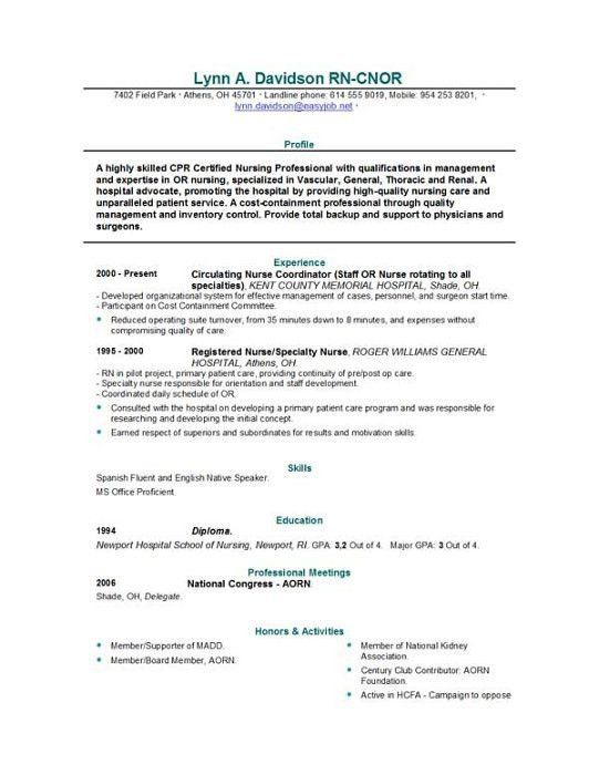 sample nursing resume objective maddenrecall nursing student ...