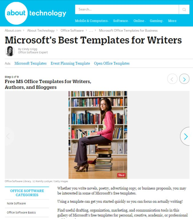 8 Free Microsoft Office Templates for Writers | Cindy Grigg