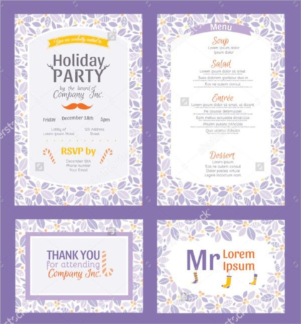 19+ Holiday Party Invitation Templates - PSD, Vector EPS