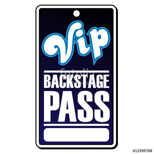 "VIP Backstage Pass"" Stock image and royalty-free vector files on ..."