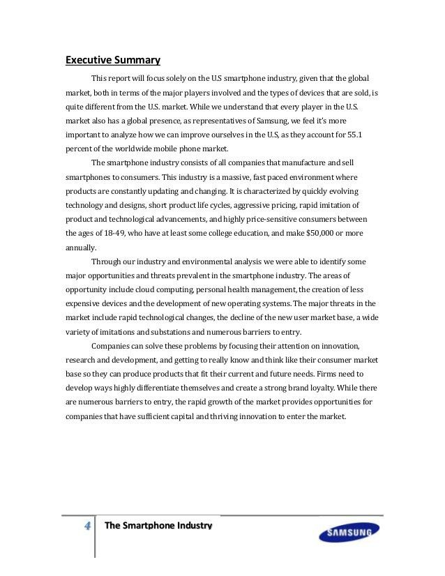 Smartphone industry samsung market analysis