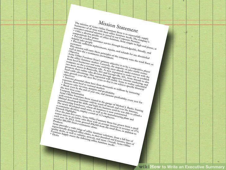 The Best Way to Write an Executive Summary - wikiHow