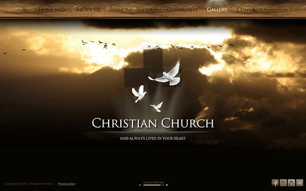 Christian Church HTML5 Template 300111363 on Behance