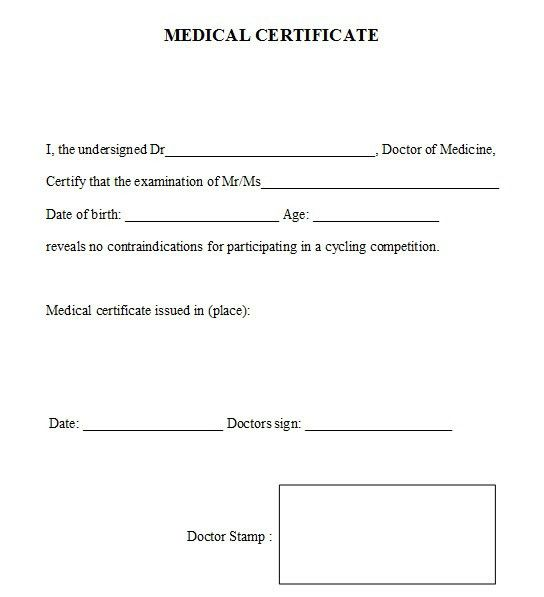Format of medical certificate by doctor 21 free medical 4 free sample warranty certificate templates openoffice writer yadclub Images