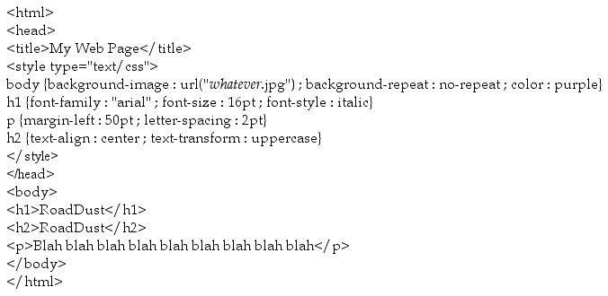 CSS Tutorial, internal style sheet and external style sheet