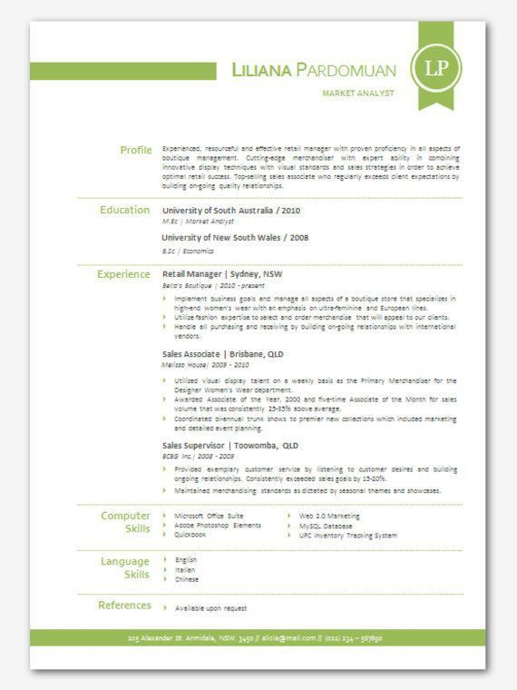 16 best CV Templates - Elegant images on Pinterest | Cv template ...