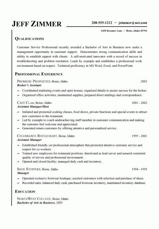 Customer Service Resume Samples Free | Template Design