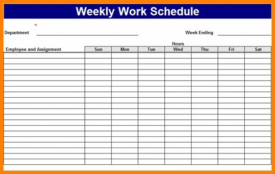10+ staff schedule template | Card Authorization 2017