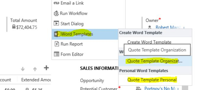 Create a Quote Template with One Click in Dynamics CRM - Edgewater ...