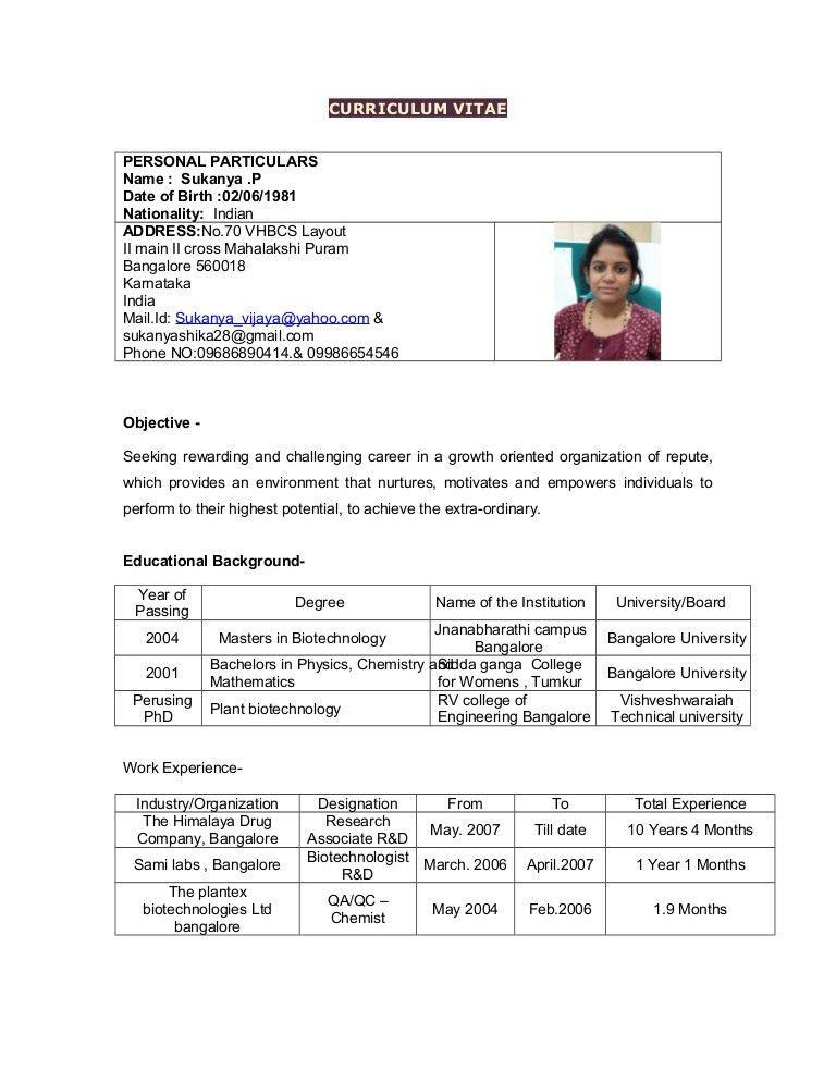 sukanya resume 2016