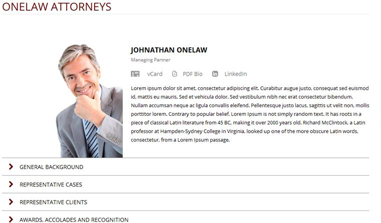 ONELAW - Legal Website Template