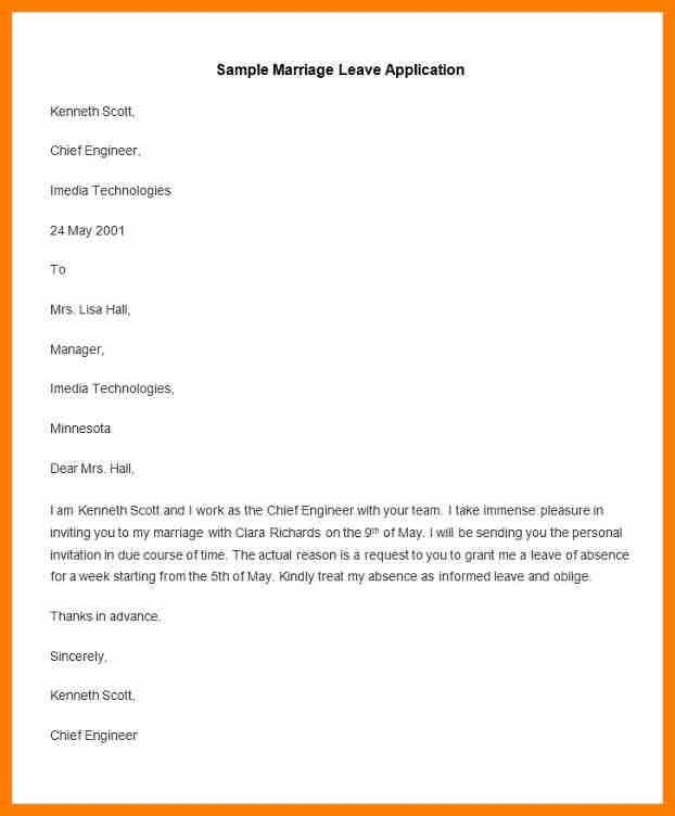 5+ leave request letter format | science-resume