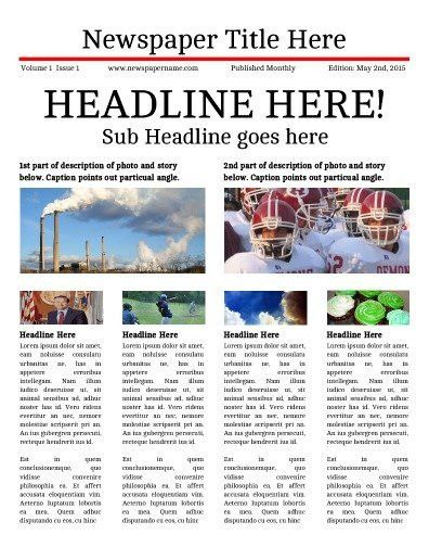 Online Newspaper Template | Best Template Examples