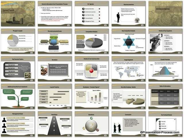 Business Proposal PowerPoint Template Set