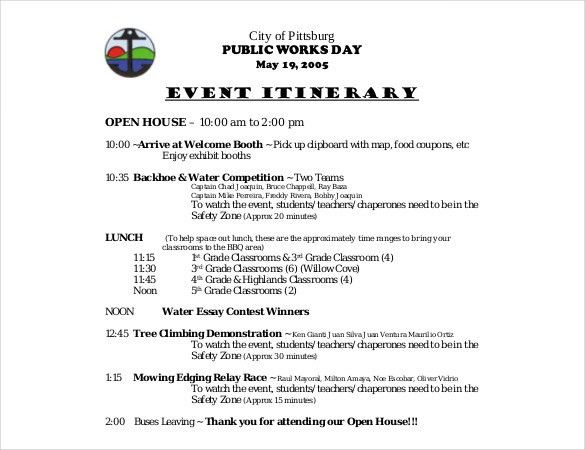 15+ Birthday Itinerary Template – Sample, Example, Format Download ...
