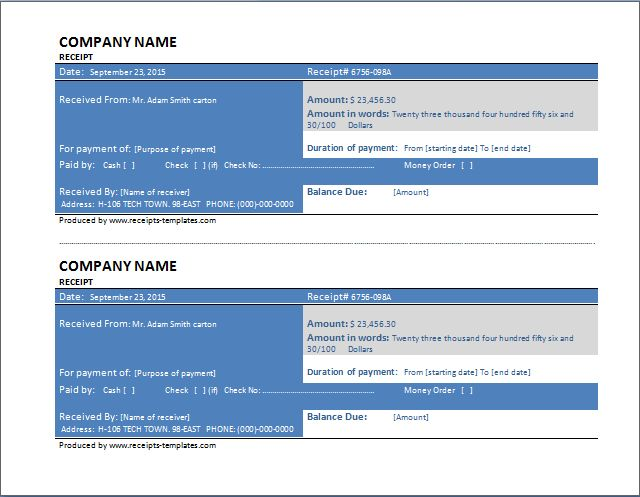 Sample Delivery Receipt Template Free Download | Formal Word Templates