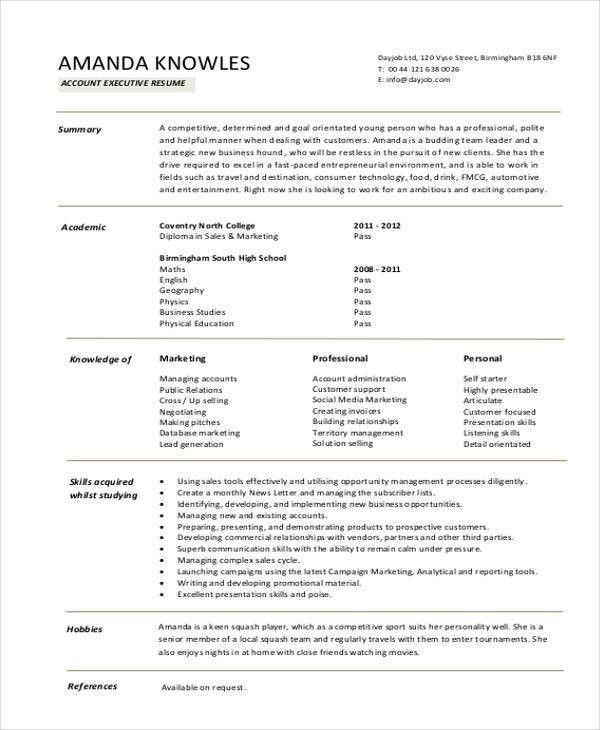Download Resume Templates - 35+ Free Word, PDF Document Download ...