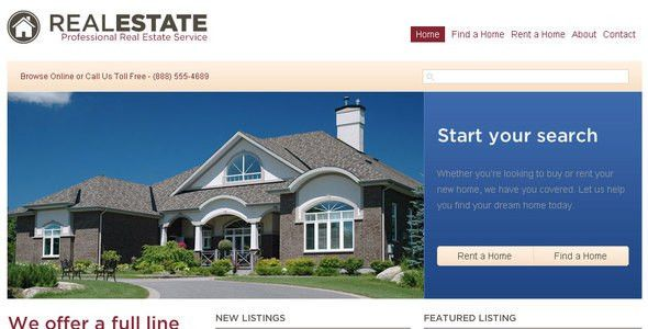 Real Estate HTML Website Templates from ThemeForest