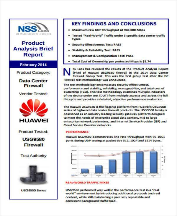 Sample Product Analysis Report - 8+ Examples in PDF, Word