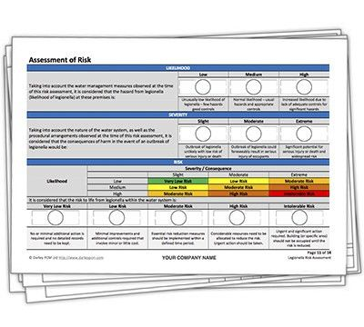 Legionella risk assessment template | Darley PCM