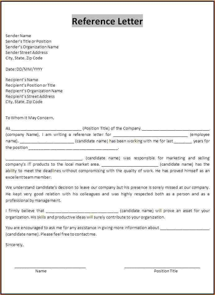 Academic reference letter format - Business Proposal Templated ...