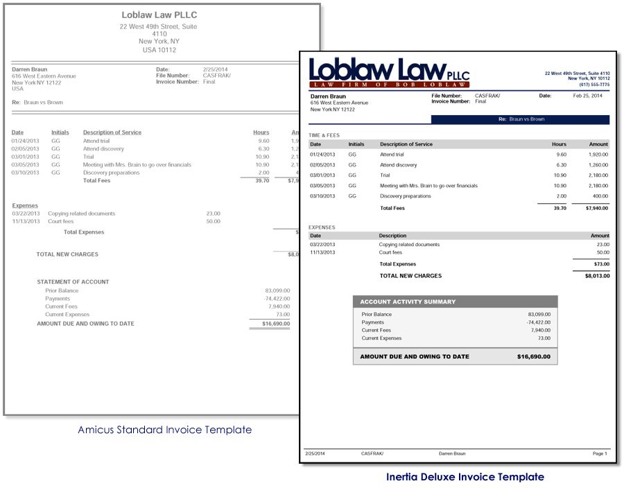 Inertia Software Solutions | Invoice Templates