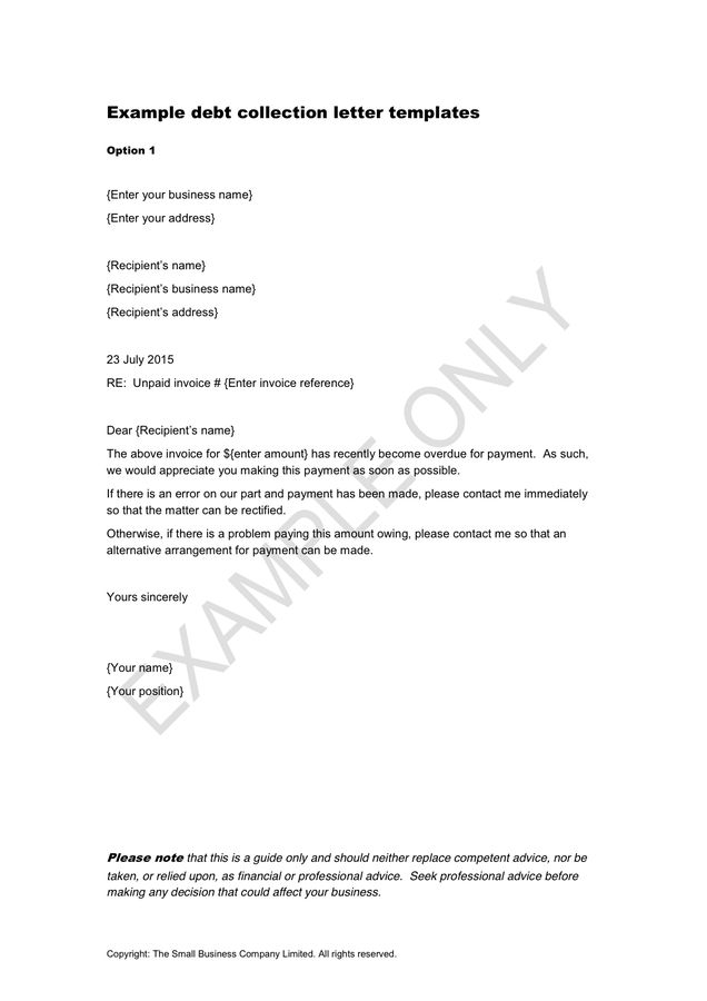 Sample Letter From Lawyer For Debt Collection | Docoments Ojazlink