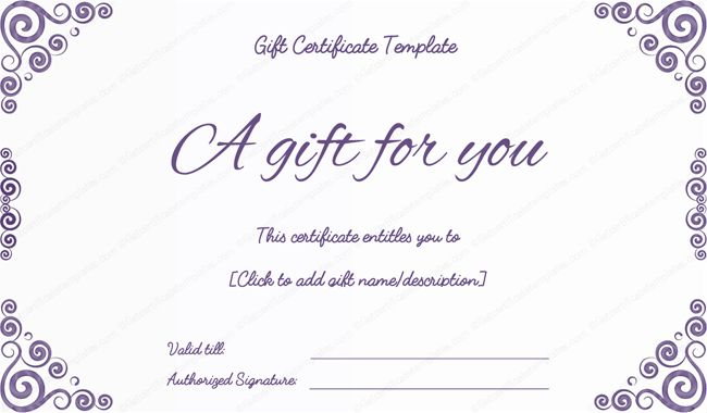 Classic Gift certificate borders | Certificate Templates