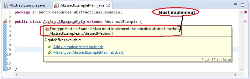 Interview Question and Answers on Java Abstract Classes & Methods ...