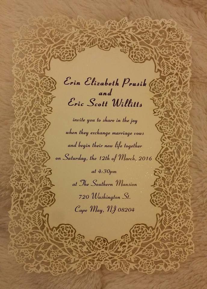 elegant flower laser cut wedding invitations EFWS001 as low as $1.35 |