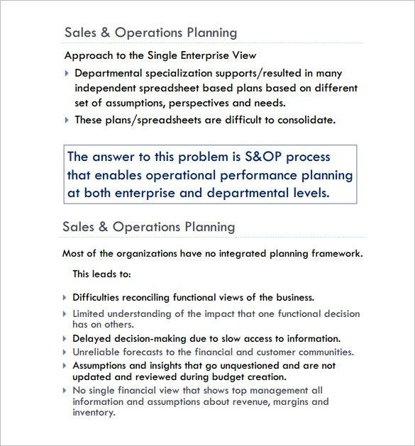 Sales Plan Sample. Sample Sales Business Plan Template And Example ...