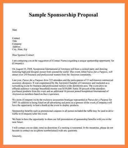9+ corporate sponsorship proposal template | Bussines Proposal 2017