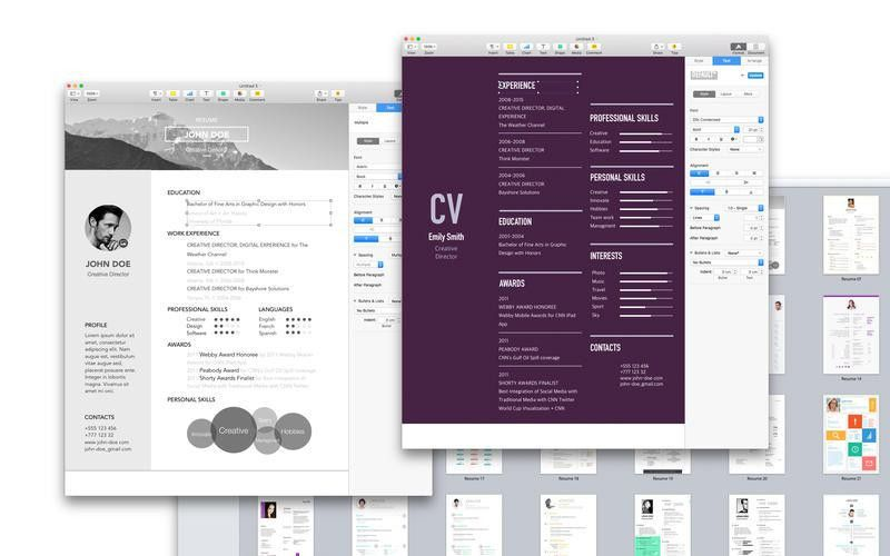 Wonderful Design Resume Template For Pages 4 MAC Resume Template ...