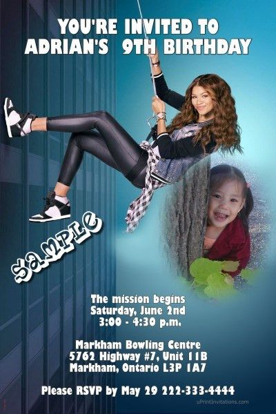 KC Undercover Spy Ops Birthday Invitations - Digital Download ...