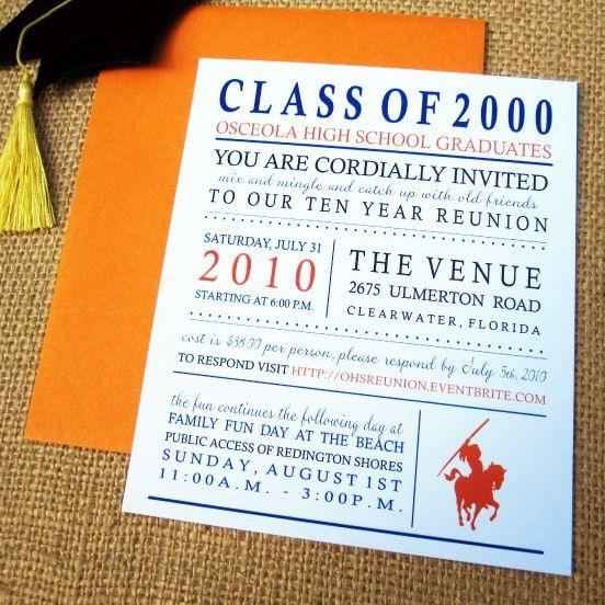 Class Reunion | Reunion Invitation Ideas and Designs | Class ...