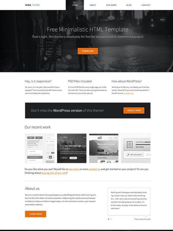 Download 50 Free CSS/HTML Business Website Templates - XDesigns